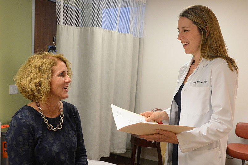 female doctor with patient at New York Presbyterian practice
